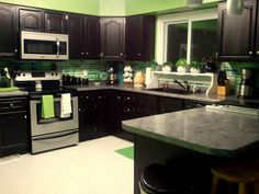Maybe I'll repaint my kitchen cabinets. I already have the lime green background.