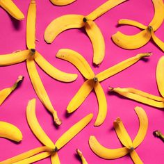 art direction | banana peels food styling still life photography - pink + yellow