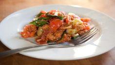 Panzanella (Tuscan tomato and bread salad)