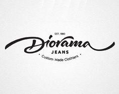 Diorama Tailor by Dalibor Momcilovic design lettering Gfx Design, Typo Design, Letterhead Design, Cursive Letters, Typography Letters, Lettering Styles, Lettering Design, Typography Inspiration, Graphic Design Inspiration