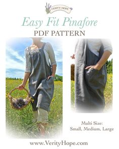 Easy Fit Pinafore dress sewing pattern pdf by Verity by VerityHope. @homespunstitch Check out her other great patterns!