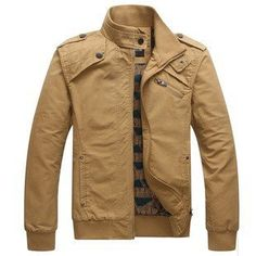 Men's Fashion Casual Cotton Stand Collar Spring Autumn Jacket - Pulse Designer Fashion