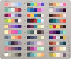 it's the simple things Palette Art, Colour Pallette, Colour Schemes, Color Combinations, Wardrobe Color Guide, Color Palette Challenge, Colour Board, Color Swatches, Color Names