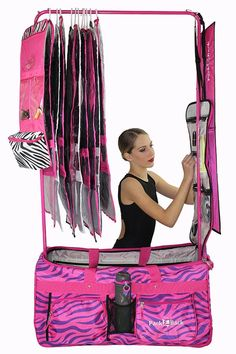 6e5d7163525d Pack 2 Rack Rolling Foldable Dance Bag