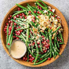 Green beans with a maple dressing