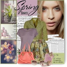 Spring flowers, created by tracey-mason on Polyvore