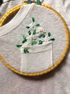 Embroidery Stitches 50 Easy DIY Embroidery Shirt Designs You Can Do By Hand - The Thrifty Kiwi - A closet staple that's currently trending is embroidered apparel. Albeit charming, the quirky embroidery designs you adore are not at the… Diy Embroidery Shirt, Embroidery Art, Cross Stitch Embroidery, Embroidered Shirts, Diy Clothes Embroidery, Hand Embroidery Stitches, Embroidered Flowers, Embroidery Hoops, Diy Embroidery Projects