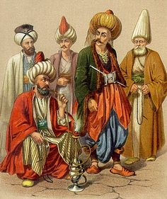 Ottoman Janissaries (conscripted soldiers) were divided into 101 ortahs (regiments), each Janissary tattooed a mark on his arm showing his ortah. A crescent was the symbol of the first ortah (the Sultans ortah), the thirty-first ortah which served on board the fleet, was an anchor. The number of Janissaries in each ortah was varied, greater numbers were in the most distinguished; the number in some was extremely large, that of the thirty-fifth, amounting to nearly thirty thousand.