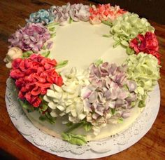 Hydrangea Cake #fooddecoration, #food, #cooking, https://facebook.com/apps/application.php?id=106186096099420