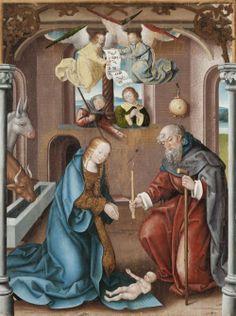 Die Geburt von Jesus. Altartafel von Jan Baegert