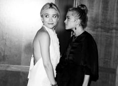 top knot . Mary-Kate & Ashley Olsen