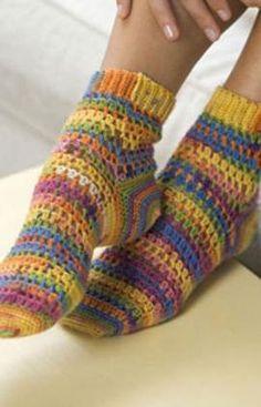 Crochet Heart & Sole Socks Crochet Free Pattern. (pdf).