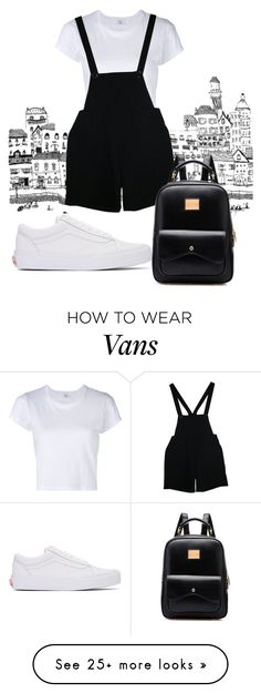"""Wampus"" by marigusmao on Polyvore featuring RE/DONE, American Apparel and Vans"