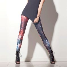My black milk clothing leggings arrived in the mail today. they are sooo amazing! Galaxy Pants, Galaxy Leggings, Funky Leggings, Blue Leggings, Printed Leggings, Space Outfit, Galaxy Fashion, Black Milk Clothing, Space Clothing
