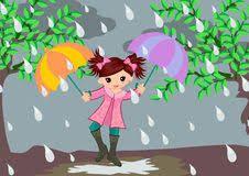 Rainy Day Photos, Rainy Season, Tinkerbell, Cute Girls, Disney Characters, Fictional Characters, Royalty Free Stock Photos, Seasons, Cartoon