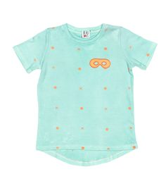 Lulah Loves...Beau Loves Fin Tee in Mint with Neon Orange dots. Available from www.lulahloves.co.uk