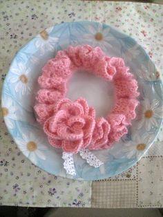モヘアのシュシュの作り方|編み物|編み物・手芸・ソーイング | アトリエ|手芸レシピ16,000件!みんなで作る手芸やハンドメイド作品、雑貨の作り方ポータル