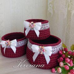 1 million+ Stunning Free Images to Use Anywhere Crochet Basket Pattern, Knit Basket, Knitting Stitches, Hand Knitting, Loom Knitting, Crochet Doilies, Crochet Flowers, Crochet Fish, Weaving