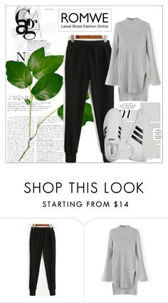 """Romwe style"" by gugleme ❤ liked on Polyvore featuring adidas"
