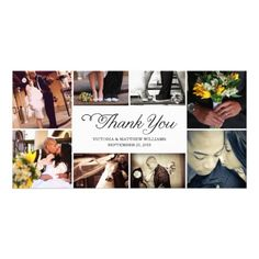 SWEET SCRIPT COLLAGE | WEDDING THANK YOU CARD CUSTOMIZED PHOTO CARD
