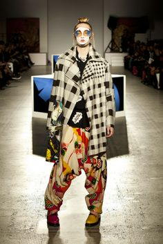 Kansai Yamamoto makes a return to the London catwalk at the V&A