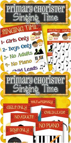 A fun way to teach or review songs during singing time. There are six fun options to sing the song/song(s) and they work great for either reverent or fun songs. Purchase comes in three different game formats: (1) All on One Page - Roll a dice to determine the singing option (2) Cards - Take turns drawing a card out of a bowl (3) Large Pages - Place the 6 singing options on the floor and toss a bean bag