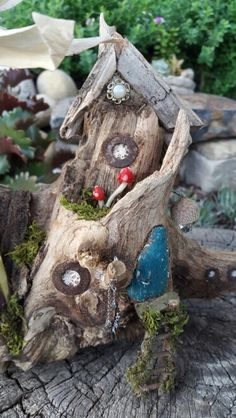 Close up of fairy house