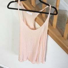 light pink cotton tank great basic tank for layering Forever 21 Tops Tank Tops