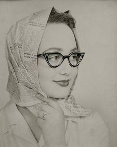 ef90d9646932eb Love this vintage photo-printed scarf, Les Lunettes Noires, (Chris Tselios)