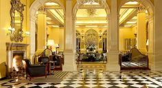 Claridge's Hotel in London.  An Art Deco hotel that has welcomed everyone from royalty to celebrities,