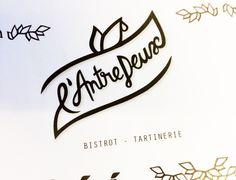 "© Andréa Jeckeln - Logo ""l'ANTRE DEUX"", Bistrot tartinerie"