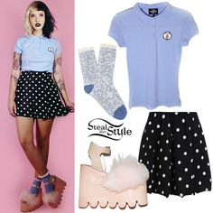 Melanie Martinez: Light Blue Polo