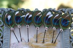 6 Peacock Wedding Hair Pins in Brilliant Blue - Bridesmaid Hair Pieces Bridesmaids Gift Peacock Accessories Bridal Hair Piece Spring Wedding Cute Wedding Ideas,going to the chapel,Maybe Some Day,Mr.,My happily e Indian Bridesmaid Dresses, Bridesmaid Hair Accessories, Blue Bridesmaids, Wedding Accessories, Wedding Dresses, Wedding Hair Pins, Bridal Hair, Indian Wedding Favors, Wedding Ideas