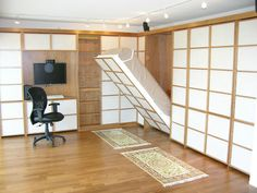 Pinner says: Thank you Vanilla Ice for the best idea ever. Murphy bed makes any room a guest room!