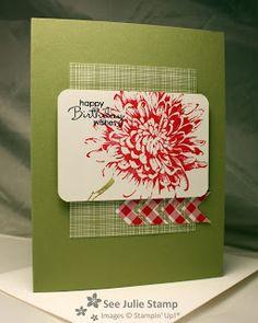 See Julie Stamp - Julie Wadlinger, Stampin Up! Demonstrator : Blooming with Kindness - RS66
