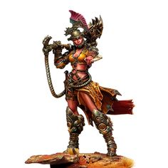 Zhou-Kha-Tha - Illustrated by Roberto Cirillo - Sculpted by Lukasz Krysa - Painted by Sergio Calvo Rubio - Terrible Kids Stuff - Fantasy miniature art - Concept sculpture painting artist - Resin toy model kit - Limited edition collectibles - Warhammer - Warhammer40k - Post apocalyptic futuristic - Blade runner