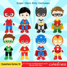 Super Hero Series 19 Digital Clipart : 35 Graphics ----------------------- ★★ Package Included ★★----------------------------------- *You will received a total of 35 Files in PNG Format with TRANSPARENT background, Size of 6~7 Inches at tallest/widest point of 300 DPI resolution. *8