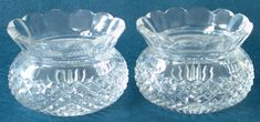 Pair of Early Century Thistle Shaped Cut Lead Crystal Salt Dishes Legacy Antiques and Collectibles Ltd Flute, Salt, Pairs, Shapes, Dishes, Crystals, Antiques, Antiquities, Antique