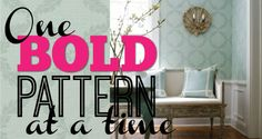 Pin this: Try one bold wallpaper pattern at a time. #HomeTips #HomeDecor