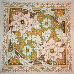 Modern take on Assisiwork, needlepoint canvas