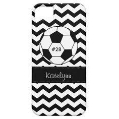 Modern Chevron Zigzag Soccer Phone Case Cover iPhone 5 Case