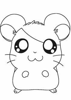 Cute Coloring Pages, Cartoon Coloring Pages, Animal Coloring Pages, Coloring Books, Coloring Sheets, Hamtaro, Online Coloring, Drawing For Kids, Cute Drawings