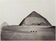 Pyramid of Dahshur, Egypt, circa 1858.