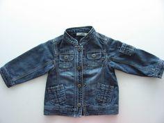 Veste jean bleu Tape à l Oeil TAO col montant 12 mois filles