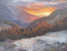 Colorado Mountain Painting - Morning Glow On The San Juans by Bev Finger
