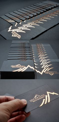 Incapital Copper Foil Black Business Card
