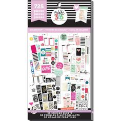 Me & My Big Ideas Create 365 Happy Planner Sticker Value Pack-Classic Color Way