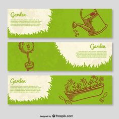 vintage gardening brochure template free - Google Search
