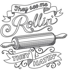 Spice It Up - They See Me Rollin' | Urban Threads: Unique and Awesome Embroidery Designs