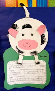Apples and ABC's: Adventures in Kindergarten: Cow and Pig Craft: First item for SALE!!!